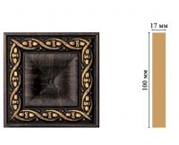 Цветная лепнина вставка Decomaster D207-1 (100*100*22 мм)