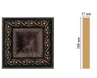 Цветная лепнина вставка Decomaster D207-2 (100*100*22 мм)