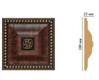 Цветная лепнина вставка Decomaster D209-2 (100*100*22 мм)